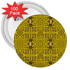 Stars And Flowers In The Forest Of Paradise Love Popart 3  Buttons (100 Pack)  by pepitasart
