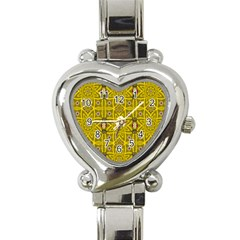 Stars And Flowers In The Forest Of Paradise Love Popart Heart Italian Charm Watch by pepitasart