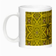Stars And Flowers In The Forest Of Paradise Love Popart Night Luminous Mugs by pepitasart