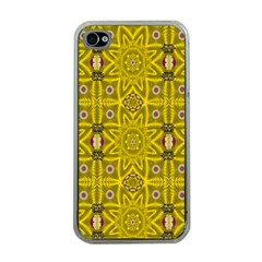 Stars And Flowers In The Forest Of Paradise Love Popart Apple Iphone 4 Case (clear) by pepitasart