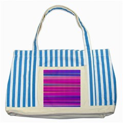 Cool Abstract Lines Striped Blue Tote Bag by BangZart