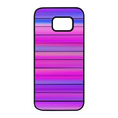 Cool Abstract Lines Samsung Galaxy S7 Edge Black Seamless Case by BangZart