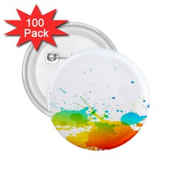 Colorful Abstract 2 25  Buttons (100 Pack)  by BangZart