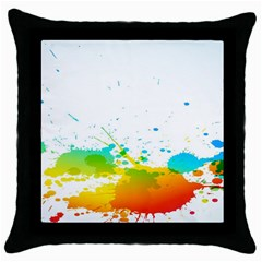 Colorful Abstract Throw Pillow Case (black) by BangZart