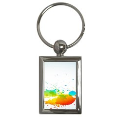 Colorful Abstract Key Chains (rectangle)  by BangZart