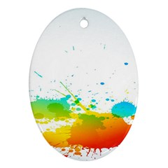 Colorful Abstract Oval Ornament (two Sides) by BangZart