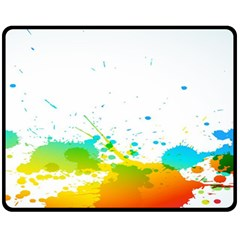 Colorful Abstract Fleece Blanket (medium)  by BangZart