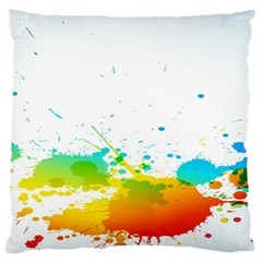 Colorful Abstract Large Cushion Case (two Sides) by BangZart