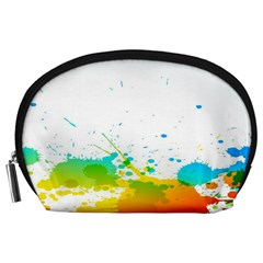 Colorful Abstract Accessory Pouches (large)  by BangZart