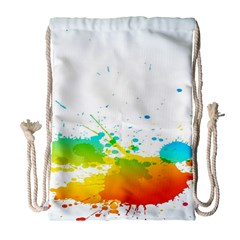 Colorful Abstract Drawstring Bag (large) by BangZart