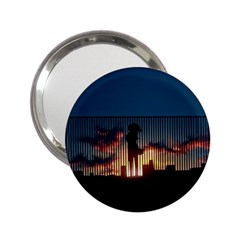 Art Sunset Anime Afternoon 2 25  Handbag Mirrors by BangZart