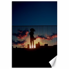 Art Sunset Anime Afternoon Canvas 12  X 18   by BangZart