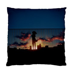Art Sunset Anime Afternoon Standard Cushion Case (two Sides) by BangZart