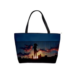 Art Sunset Anime Afternoon Shoulder Handbags by BangZart