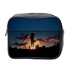 Art Sunset Anime Afternoon Mini Toiletries Bag 2 Side by BangZart