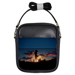 Art Sunset Anime Afternoon Girls Sling Bags by BangZart