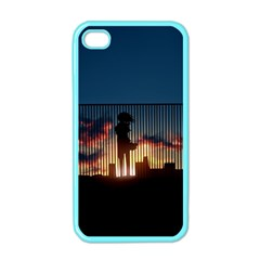 Art Sunset Anime Afternoon Apple Iphone 4 Case (color) by BangZart