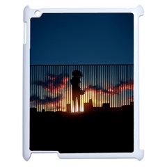 Art Sunset Anime Afternoon Apple Ipad 2 Case (white) by BangZart