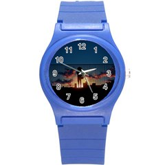 Art Sunset Anime Afternoon Round Plastic Sport Watch (s) by BangZart