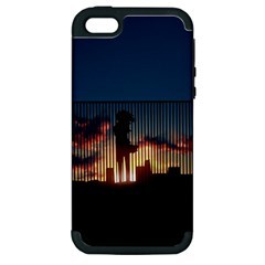 Art Sunset Anime Afternoon Apple Iphone 5 Hardshell Case (pc+silicone) by BangZart