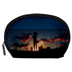 Art Sunset Anime Afternoon Accessory Pouches (large)  by BangZart