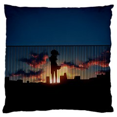 Art Sunset Anime Afternoon Large Flano Cushion Case (two Sides) by BangZart