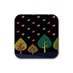 Vector Color Tree Rubber Coaster (square)  by BangZart