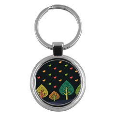 Vector Color Tree Key Chains (round)  by BangZart