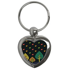 Vector Color Tree Key Chains (heart)  by BangZart