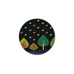 Vector Color Tree Golf Ball Marker (4 Pack) by BangZart