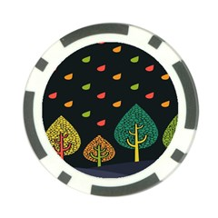 Vector Color Tree Poker Chip Card Guard (10 Pack) by BangZart