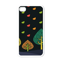 Vector Color Tree Apple Iphone 4 Case (white) by BangZart