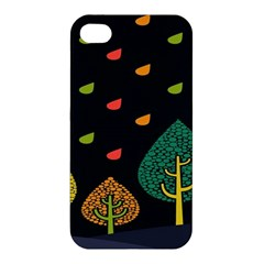 Vector Color Tree Apple Iphone 4/4s Premium Hardshell Case
