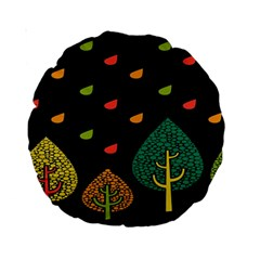 Vector Color Tree Standard 15  Premium Round Cushions by BangZart