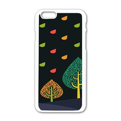 Vector Color Tree Apple Iphone 6/6s White Enamel Case by BangZart