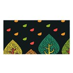 Vector Color Tree Satin Shawl Front