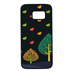 Vector Color Tree Samsung Galaxy S7 Black Seamless Case by BangZart