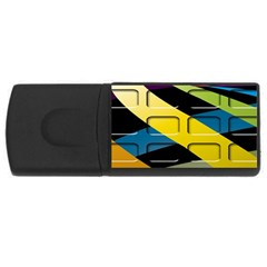 Colorful Docking Frame Usb Flash Drive Rectangular (4 Gb) by BangZart