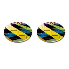 Colorful Docking Frame Cufflinks (oval) by BangZart