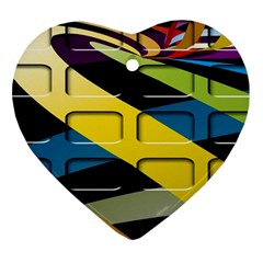 Colorful Docking Frame Heart Ornament (two Sides) by BangZart