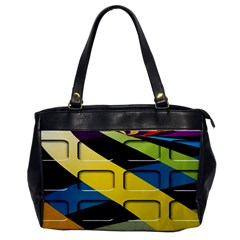 Colorful Docking Frame Office Handbags by BangZart