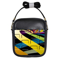 Colorful Docking Frame Girls Sling Bags by BangZart