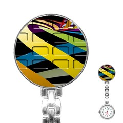 Colorful Docking Frame Stainless Steel Nurses Watch by BangZart
