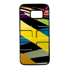 Colorful Docking Frame Samsung Galaxy S7 Black Seamless Case