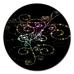 Sparkle Design Magnet 5  (round) by BangZart