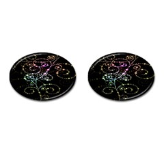 Sparkle Design Cufflinks (oval) by BangZart