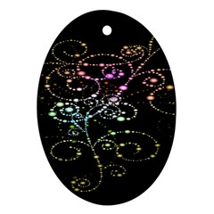 Sparkle Design Oval Ornament (two Sides) by BangZart