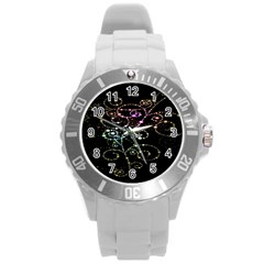 Sparkle Design Round Plastic Sport Watch (l) by BangZart