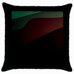 Color Vague Abstraction Throw Pillow Case (black) by BangZart