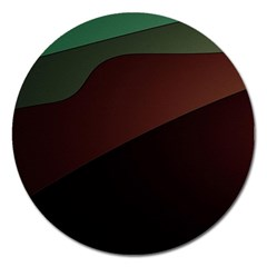 Color Vague Abstraction Magnet 5  (round) by BangZart